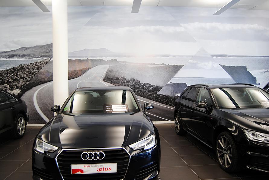 Audi Mogauto, decoración con vinilos de gran formato