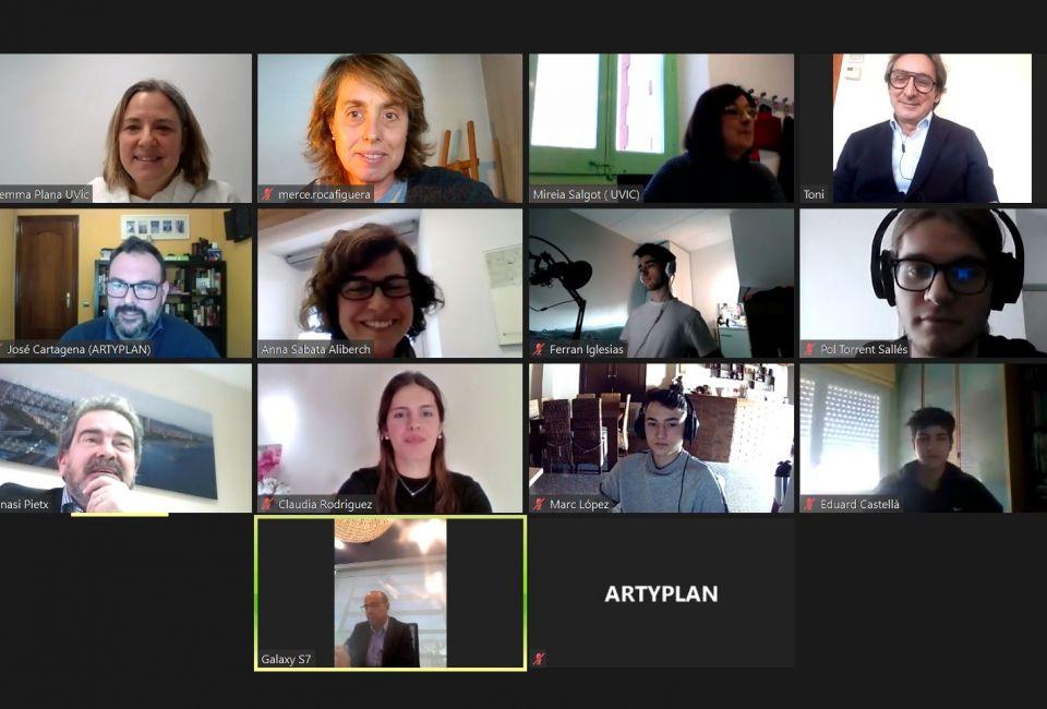 Artyplan a l'entrega de la beca UAlumni de la UVic-UCC